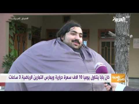مصر اليوم - شاهد باكستاني يزن 440 كلغ ويأكل 4 دجاجات و36 بيضة يوميًا