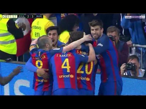 شاهد  هدف ميسي القاتل في مرمى ريال مدريد