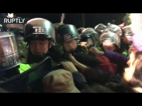 مصر اليوم - جرحى في مظاهرات ضد نشر منظومة الدفاع الصاروخي ثاد