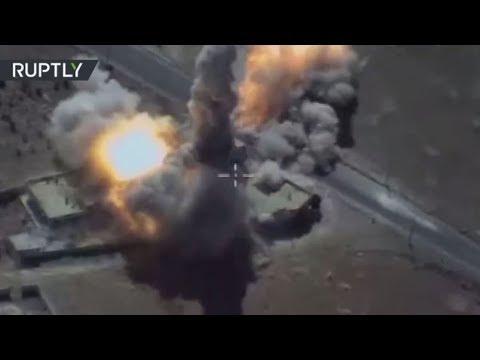 مصر اليوم - شاهد إطلاق صواريخ كاليبر الروسية على مواقع داعش في سورية