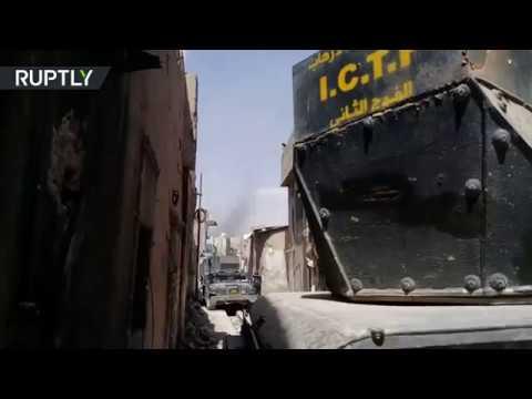 مصر اليوم - الجيش العراقي يسير دوريات قرب منطقة المنارة الحدباء التي دمرها داعش