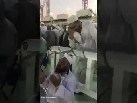 مصر اليوم - شاهد رد فعل مؤثر لحاج بعد انتهائه من مناسك الحج