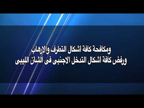 مصر اليوم - بالفيديو  بيان اللجنة المصرية المعنية في ليبيا