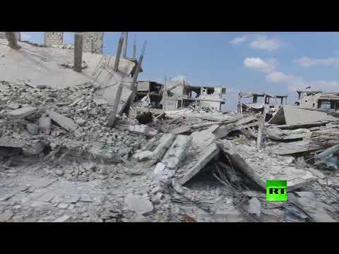 مصر اليوم - شاهد طائرة من دون طيار توثق دمارًا هائلًا شهدته مدينة درعا السورية