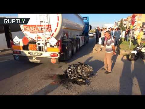 مصر اليوم - شاهد حادث سير مروّع في أنطاليا أدى إلى مقتل السائق