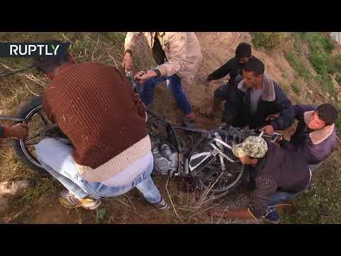شاهد مقتل فلسطينيين في قصف إسرائيلي على بيت لاهيا
