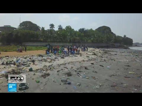 شاهد  النفايات تغزو كوناكري وتلتهم شوارع غينيا