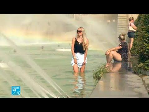 شاهد  موجة الحر شارفت على نهايتها في فرنسا
