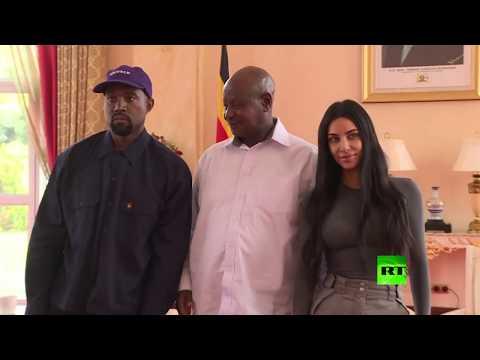 شاهد تعرف على هدية كيم كارداشيان وزوجها إلى الرئيس الأوغندي
