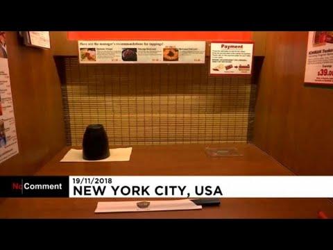 شاهد سكينة غير معهودة في مطاعم يابانية وسط نيويورك