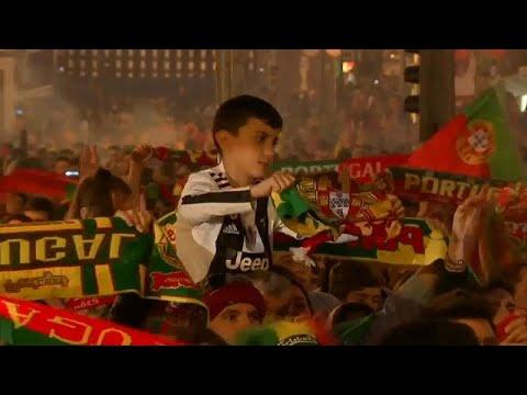 شاهد احتفالات مُبهجة للبرتغاليين بتتويج منتخبهم بأول نسخة من دوري الأمم الأوروبية