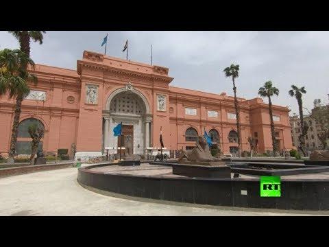 شاهد تعقيم قاعات المتحف المصري الكبير وسط مخاوف من انتشار كورونا
