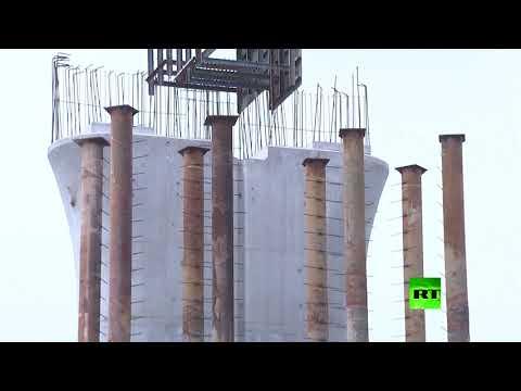 شاهد التلفزيون الصيني ينشر فيديو لجسر دوار فريد من نوعه