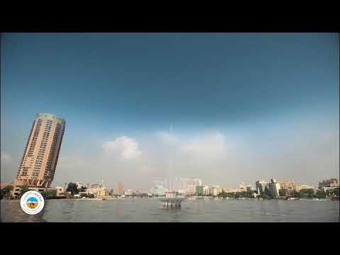 شاهد  المقاولون العرب تعيد تشغيل نافورة نهر النيل