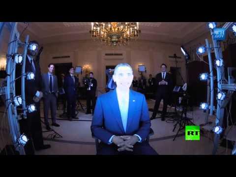 لوحات ثلاثية الأبعاد لباراك أوباما