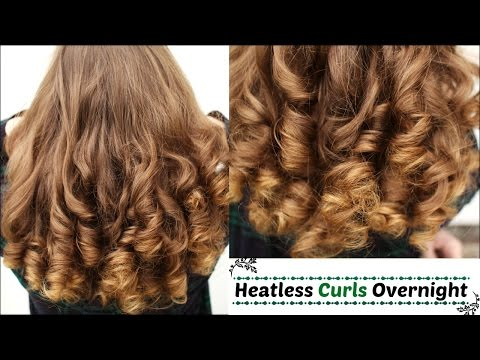 overnight heatless curlsheatless curls