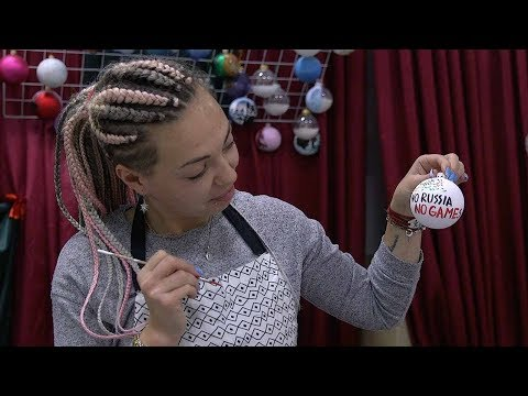 handmade christmas baubles reference russia