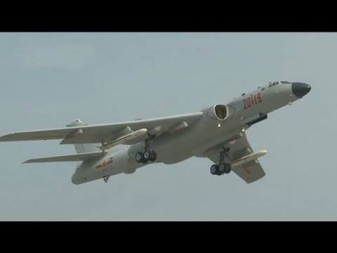 chinese air force conducts patrol exercise