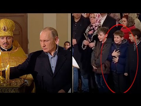 young boys can't contain themselves when president putin shows up
