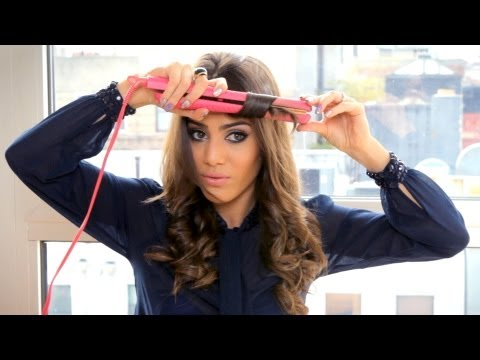 curling with a straightener by