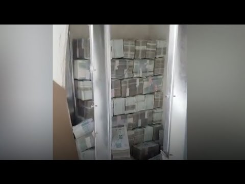huge sums of cash found in a secondhand