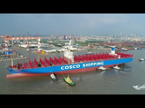 chinas first 20000 teu container ship is ready