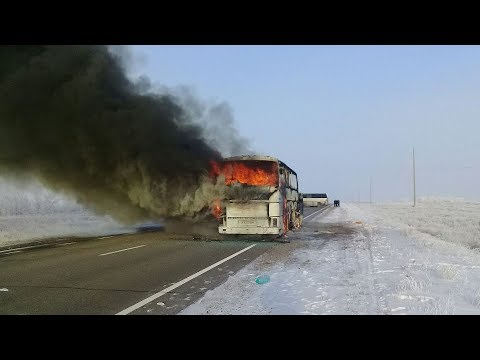 at least 52 killed in a bus fire in kazakhstan