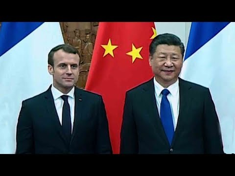chinese president xi jinping meets french president