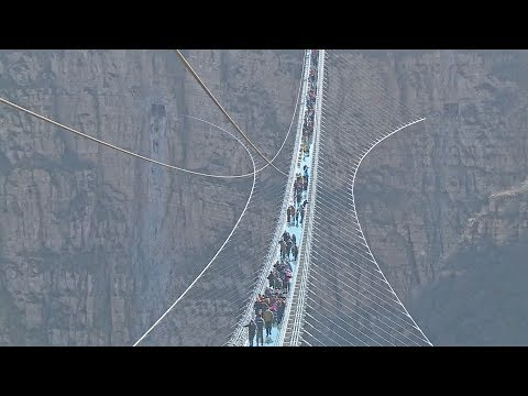 worlds longest glassbottom bridge opens