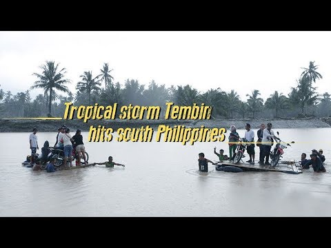 tropical storm tembin hits southern philippines