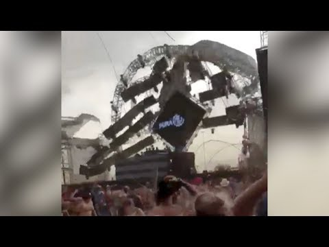 stage collapses killing dj at music festival