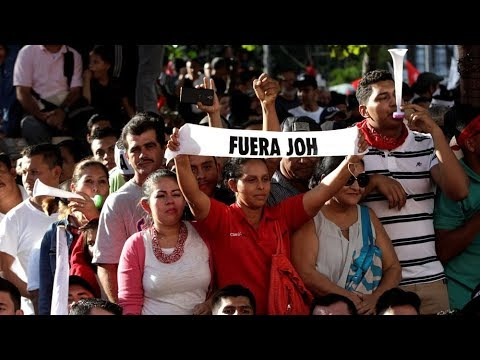 thousands in honduras protest