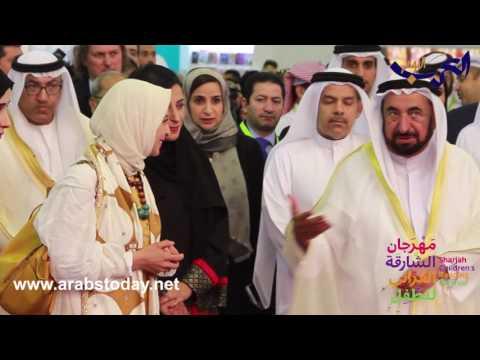 مصر اليوم - بالفيديو  حاكم الشارقة يتفقد أجنحة المهرجان القرائي التاسع للطفل