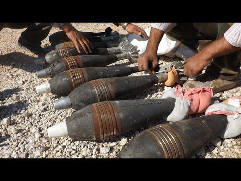 مصر اليوم - شاهد داعش يستخدم قذائف هاون محملة بغاز الخردل السام بـ الموصل