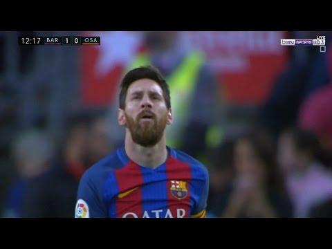 مصر اليوم - بالفيديو هدف لاعب برشلونة ليونيل ميسي في مباراة أوساسونا
