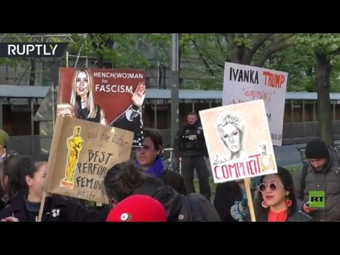 مصر اليوم - شاهد  مظاهرة في برلين تندد باستقبال إيفانكا ترامب
