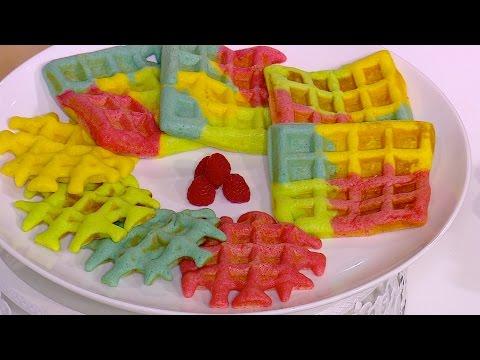 مصر اليوم - شاهد طريقة إعداد وافلز ملونة