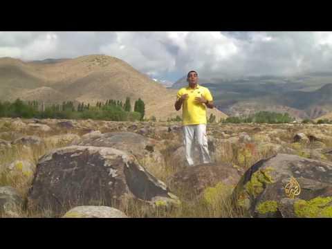 مصر اليوم - بالفيديو سايمالو طاش منطقة أثرية فريدة في قيرغيزيا