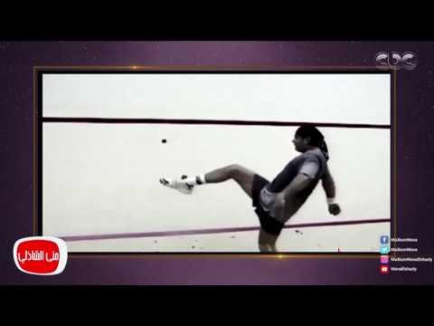 مصر اليوم - شاهد الفنان عمرو دياب يلعب الاسكواش بشكل رائع