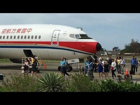 مصر اليوم - شاهد هبوط اضطراري لطائرة تابعة لشركة الطيران الصينية تشاينا ايسترن
