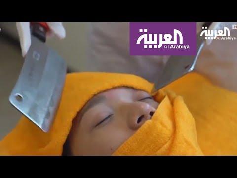 مصر اليوم - شاهد طرق استرخاء عن طريق تدليك الجسم بالسكاكين الحادة