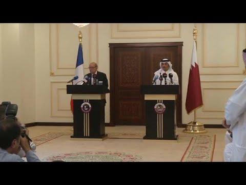 مصر اليوم - شاهد وزير خارجية فرنسا في جولة خليجية لدعم جهود الوساطة بين قطر وجيرانها
