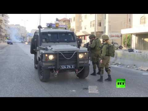 مصر اليوم - شاهد الجيش الإسرائيلي يستخدم الغاز المسيل للدموع ضد المتظاهرين