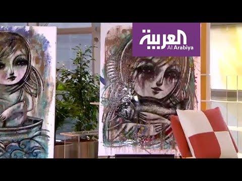 مصر اليوم - شاهد لوحات زاهية يعتمدها التشكيلي مهند عرابي في معرضه الأخير