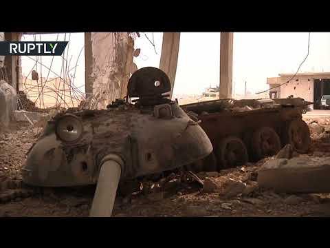 مصر اليوم - شاهد ضبط مصنع دبابات لتنظيم داعش في بلدة عقيربات