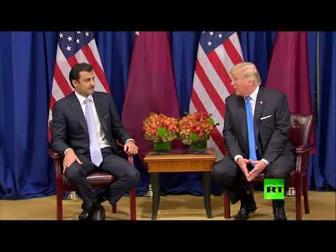 مصر اليوم - شاهد سوء فهم بين دونالد ترامب وتميم بن حمد آل ثاني