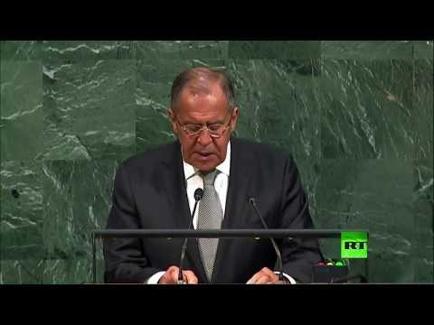 مصر اليوم - شاهد كلمة وزير الخارجية الروسي سيرغي لافروف أمام الأمم المتحدة