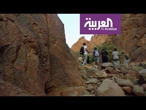 مصر اليوم - شاهد المشي في الطبيعة الهايكنغ في عروس الشمال السعودي