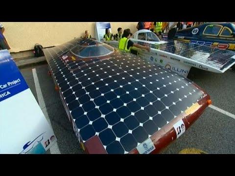 مصر اليوم - انطلاق سباق سيارات تعمل بالطاقة الشمسية