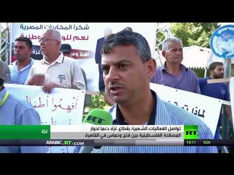 مصر اليوم - شاهد فعاليات داعمة لحوار القاهرة في غزة